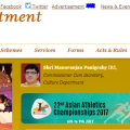 culture dept website not updated
