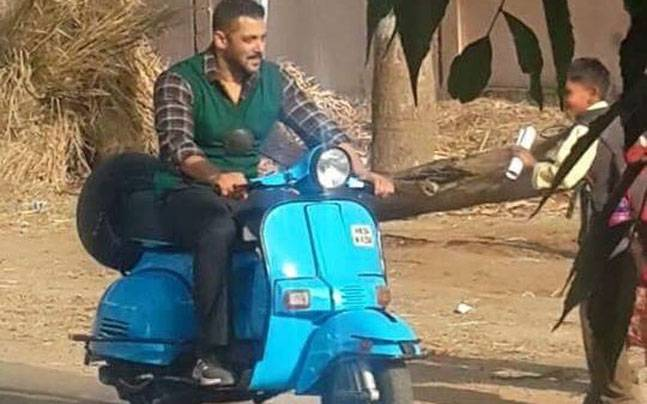 salman khan at sultan set