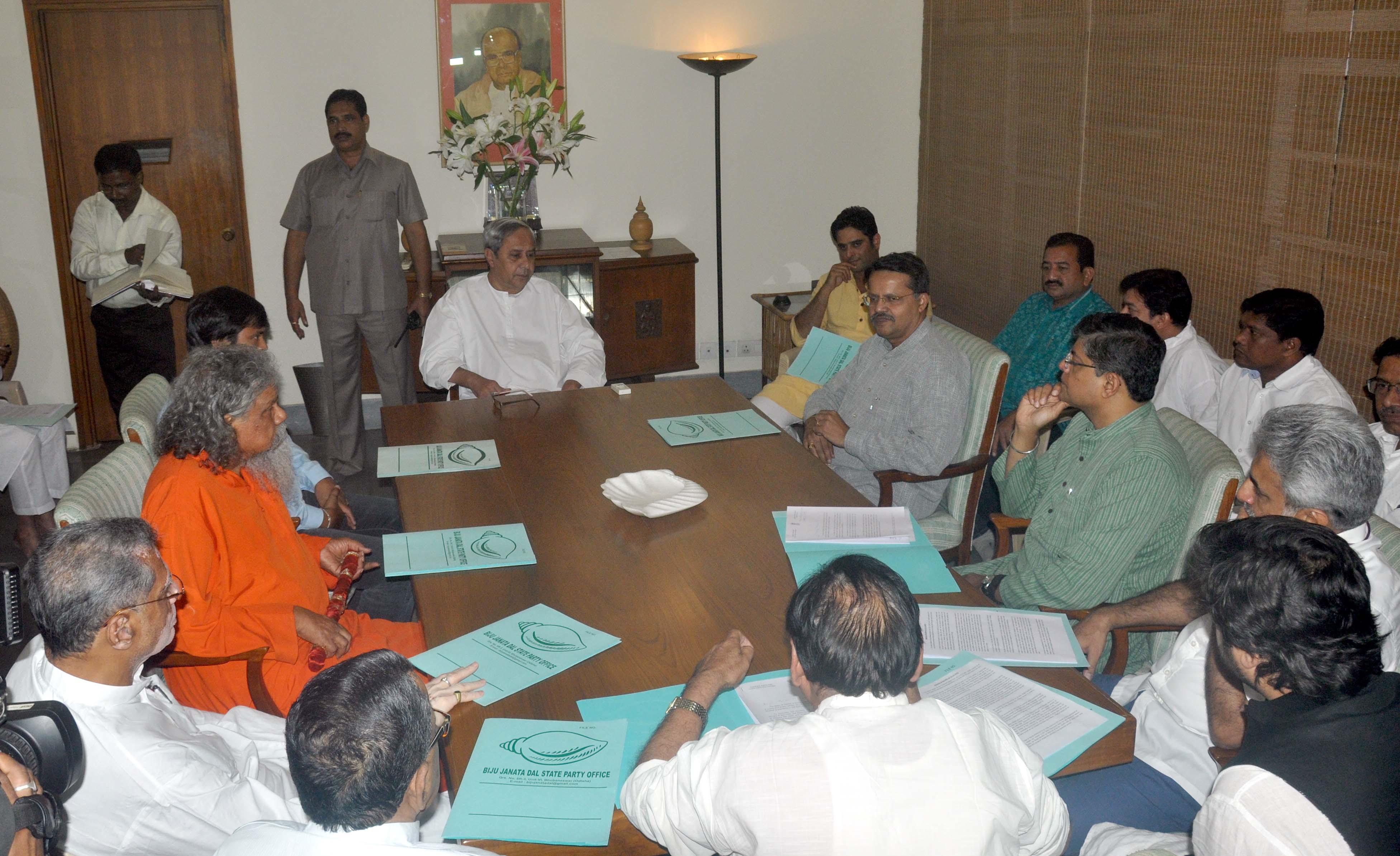 naveen pattanaik in meeting