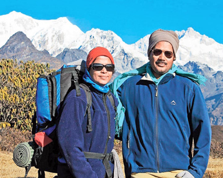 Odia couple in Everest