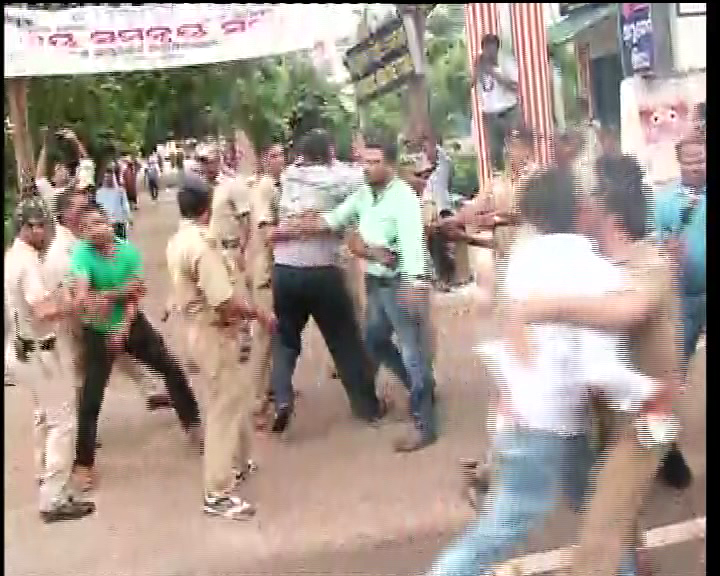 law minister protest in puri
