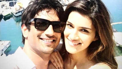 entertain- kirti and sushant leave mauritious