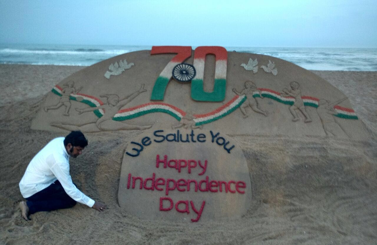 sudarshan pattnaik wishes for independent day