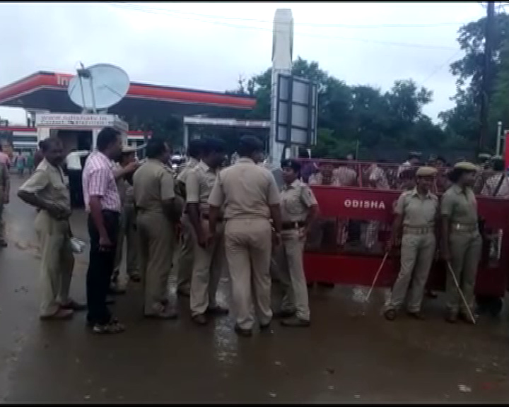 boudha manamunda bjd attack issue - bjp yuva morcha protest -sambalpur