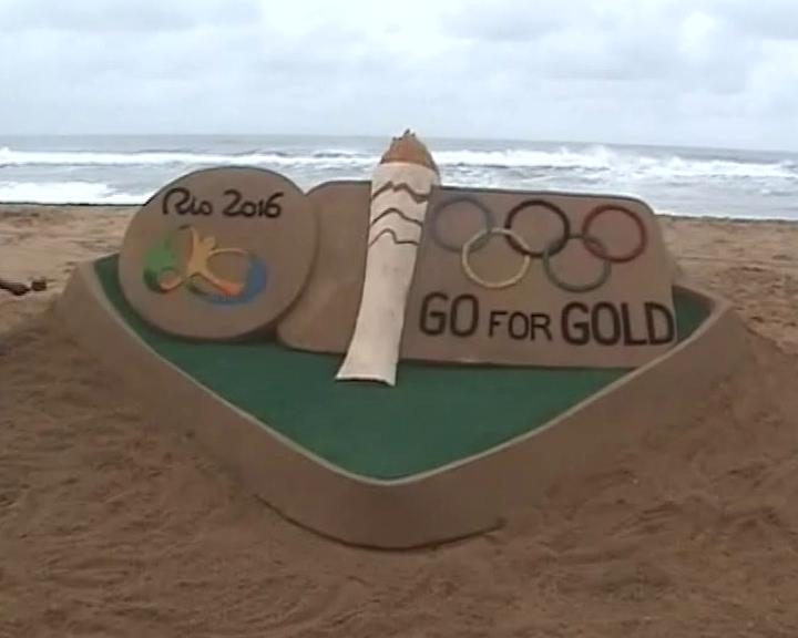 sand art -sudarshan pattnaik-rio olympics