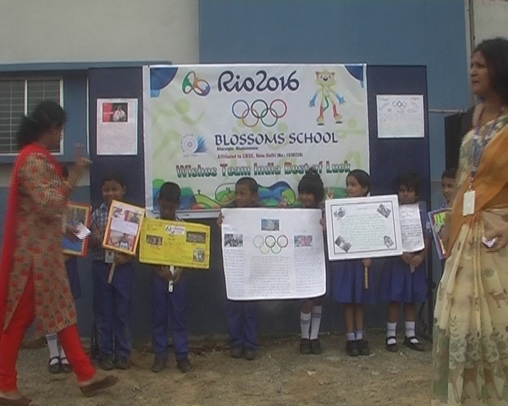 bhubaneswar bloosom school- wishes to rio olympian from odisha