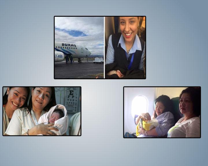 Baby born mid-air