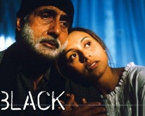 A still from the movie Black