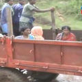 delivery patient in tractor
