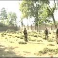 terrorists is firing at security forces from inside a government institute in Pampore