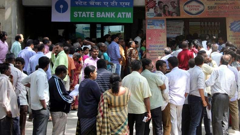 queue for money
