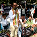 bhubaneswar sex cd issue -bjp protest