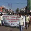 student strike at nabarangapur college