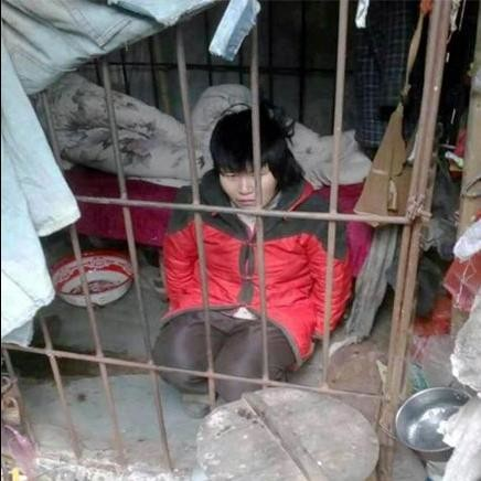 woman live in forest in china