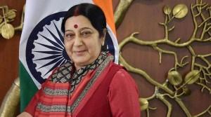 Swaraj meets her Sri Lankan counterpart