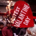 bajrang dal protest against valentine day