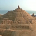 Sand Artist Sudarsan Pattnaik Builds 45ft Tall Sand Castle In Puri