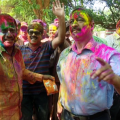holi celebration in cp office
