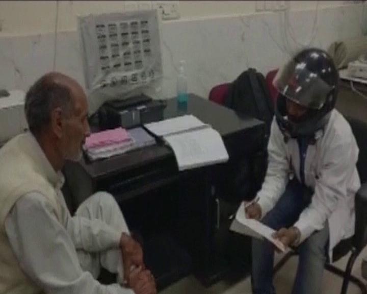 doctors wear helmet