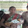 new born baby rescure from jungle at baripada