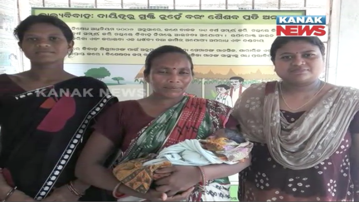 new born baby rescure from jungle at baripada