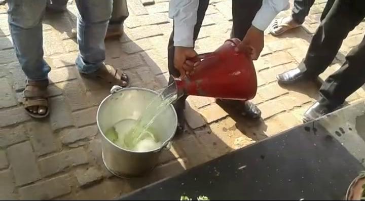 raid in petrol pump
