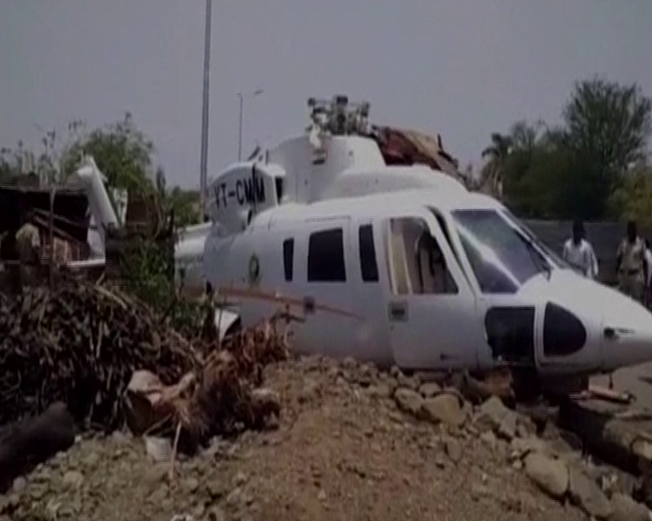 maharastra cm save life from helicopter accident in lature