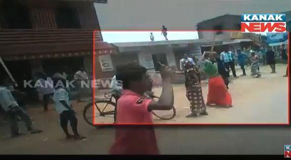 Wine Protest in Kendrapara