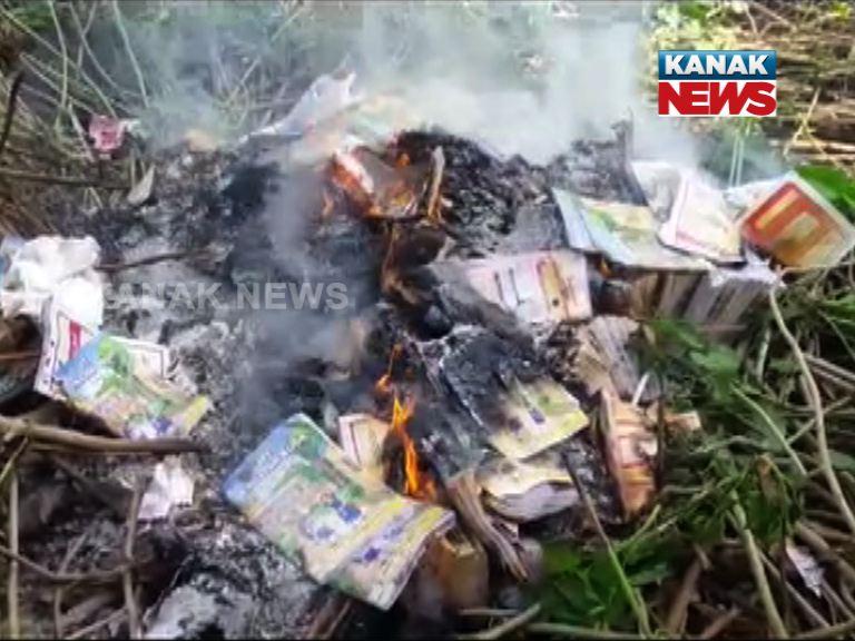 Book Burn in nabarangpur