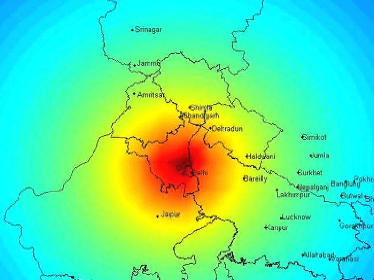 earthquake shakes up Delhi