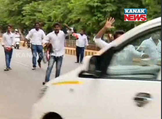 congress protest against radhamohan singh