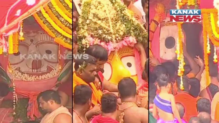 jagannath , balabhadra and subhadra in chariot