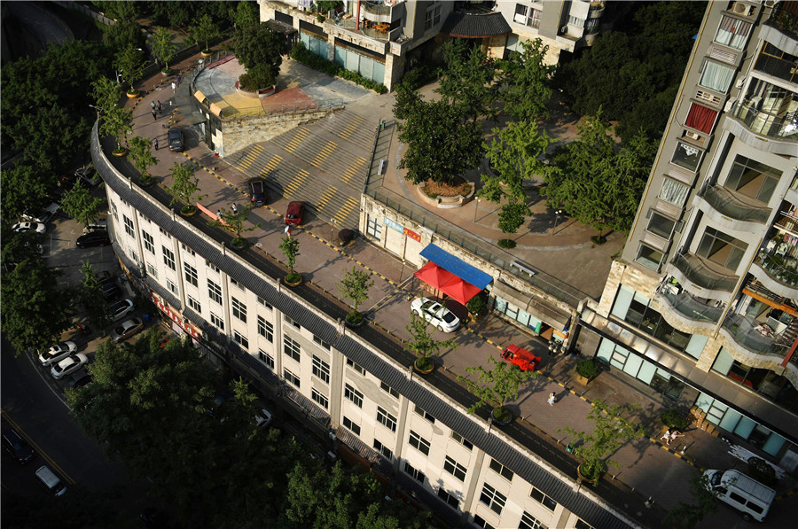 road on rooftop