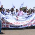 Protest of Lulu Sena Against Sanjay Dasburma In Bhubaneswar