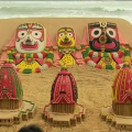 Ratha Yatra 2017: Magnificent Sand Art By Sudarsan Pattnaik In Puri