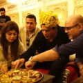 Shah Rukh Khan Eating Rajasthani Thali in Royal Style