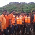 rescue team in flood area