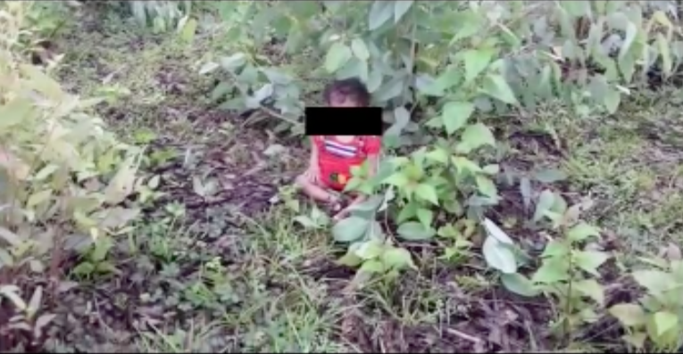 1 year old girl child found cried near mothers dead body