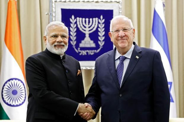 modi at esrael