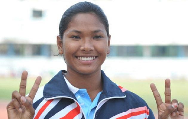 swapna barman got gold medal in asian athletic