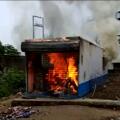 women set fire to wine shop