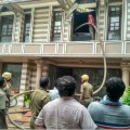 bhubaneswar : fire explosion on pal heights woner house, 5 dead