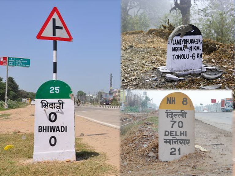 did you know indian milestones varies in colour for different highways roads
