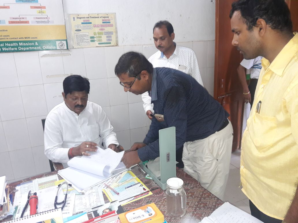 Minister Health Pratap Jene made a surprise visit to Boinda PHC