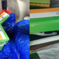indian flag shoe box