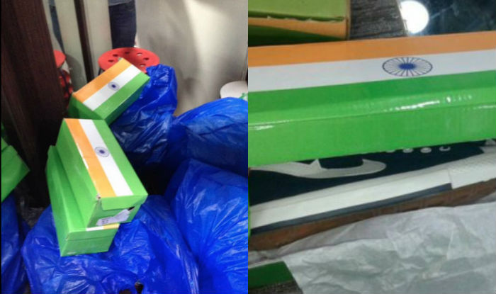 indian flag shoe box