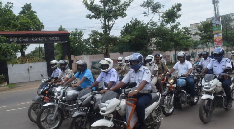 Traffice swareness programme by bramhapur police