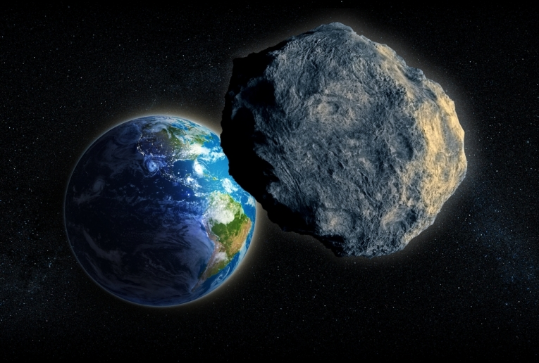 Asteroids the size of a small house and aircraft carrier passing the Earth