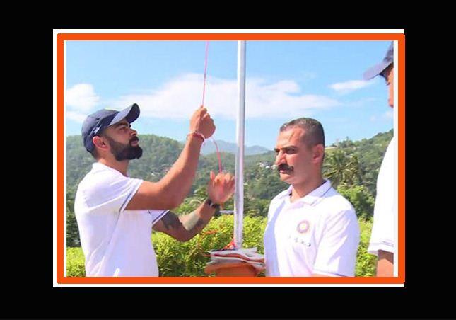Virat Kohli and team hoist national flag in Sri Lanka