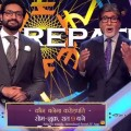 abhishek-and-Amitabh-jodi-on-kbc-set